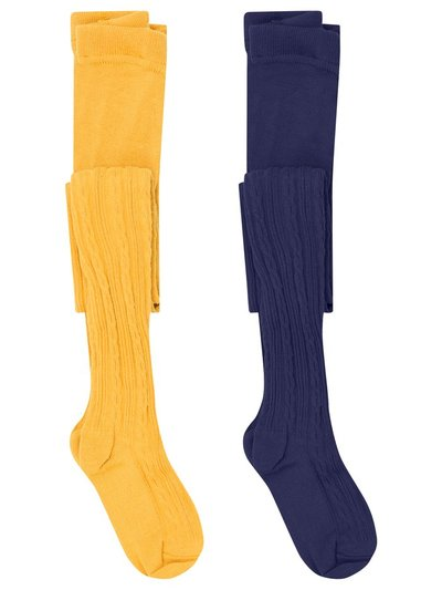 Cable knit tights two pack