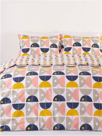 Geometric print duvet set