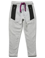 Zip panel joggers (3 - 12 yrs)