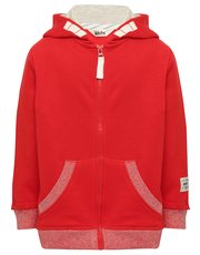 Hooded zip through sweater