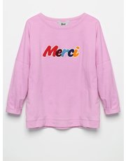 Khost Clothing merci embroidered sweatshirt