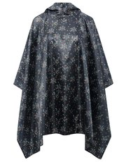 Floral print showerproof poncho