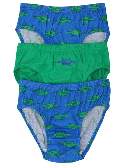 Crocodile briefs three pack (2-10yrs)