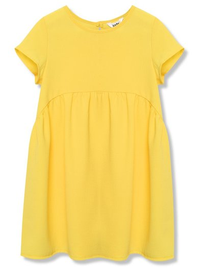 Drop hem yellow dress (3 - 12 yrs)