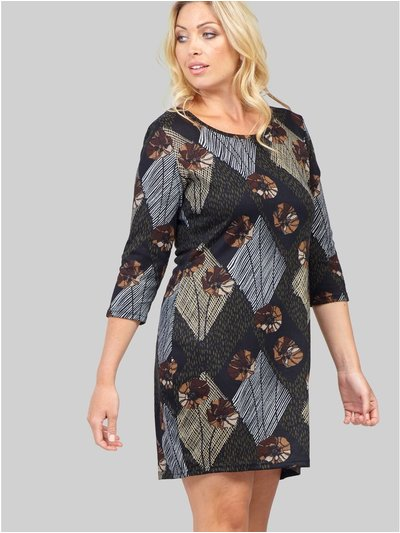 Izabel Curve patchwork knitted dress