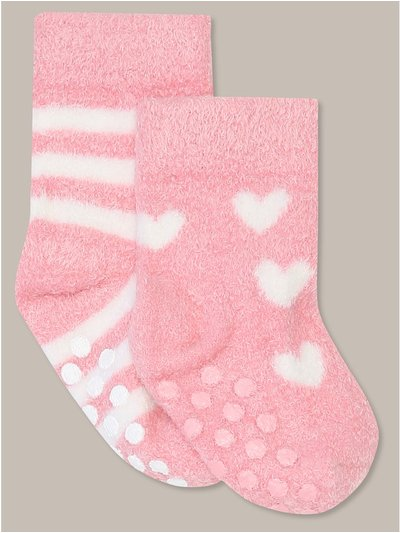Heart stripe socks two pack