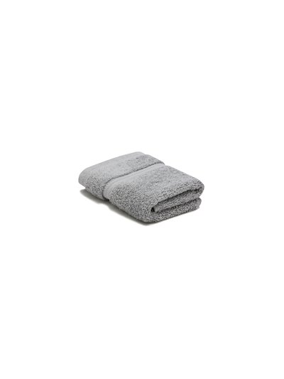 Grey combed cotton facecloth