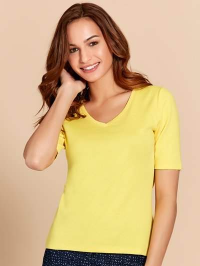 Plain half sleeve v neck t-shirt