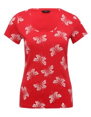 Butterfly scoop neck t-shirt