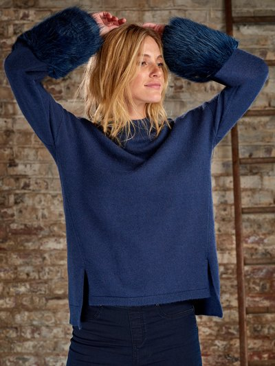 Sonder Studio faux fur sleeve jumper