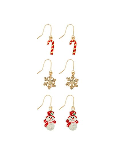 Christmas earrings three pair pack