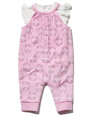 Bunny dungarees and top set