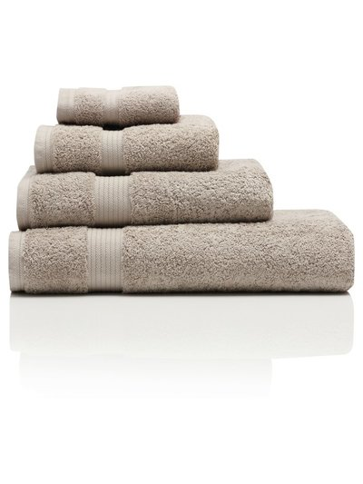 Beige combed cotton bath sheet
