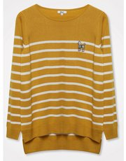 Khost Clothing embroidered poodle striped jumper