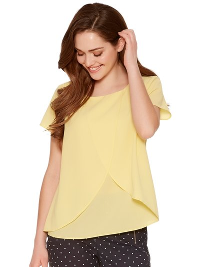 Petite split front shell top
