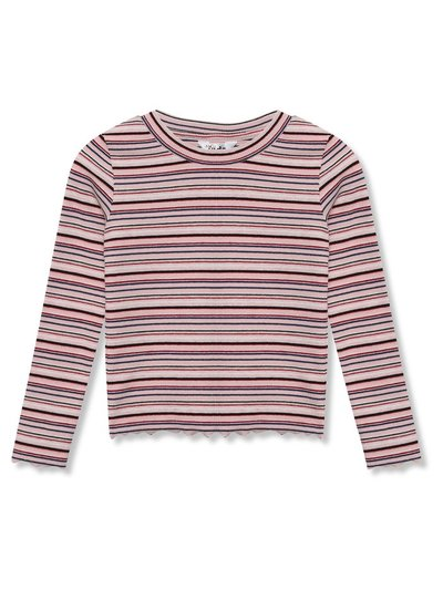 Lettuce hem stripe t-shirt (9mths-5yrs)