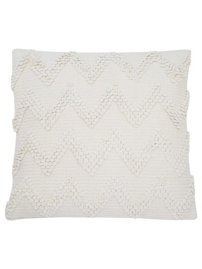 Chevron chenille cushion