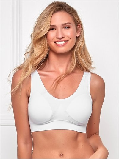 Non-wired seamfree bra top