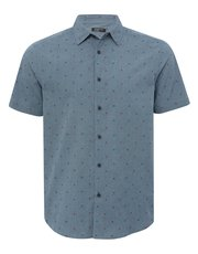 Dot gingham short sleeve shirt