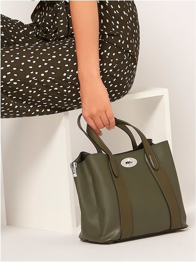 Twist lock handbag