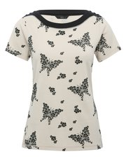 Butterfly print bardot top
