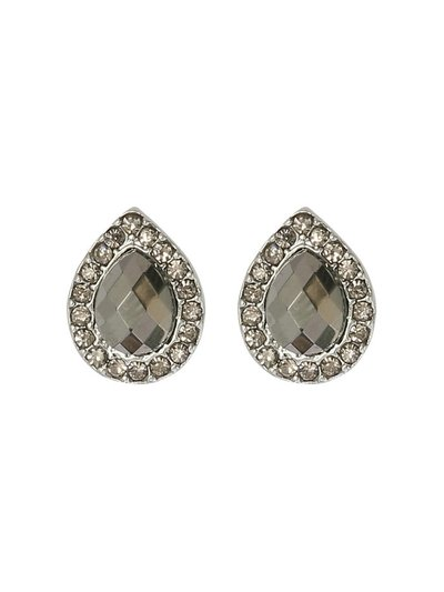 Diamante teardrop earrings