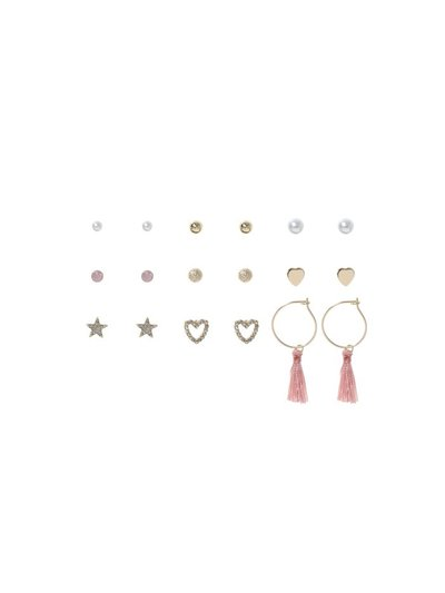 Tassel and stud earrings nine pack