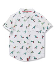 Dinosaur embroidered shirt