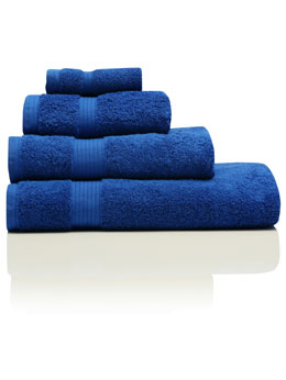 Dark Blue Combed Cotton Towels