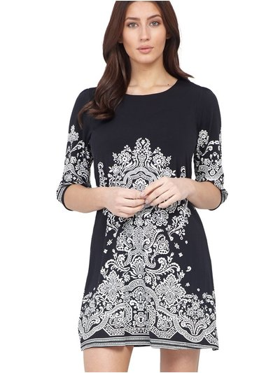 Izabel damask print shift dress