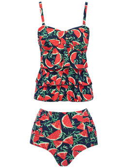 Watermelon Tankini Set