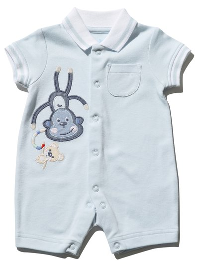 Monkey polo romper (Newborn - 18 mths)
