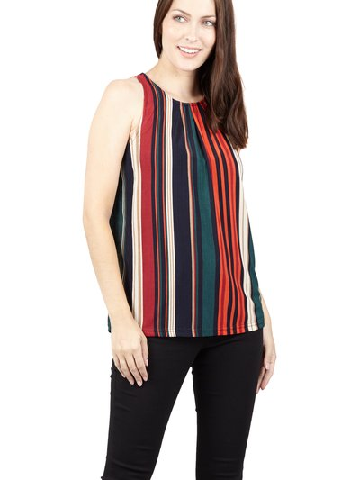 Izabel striped shell top