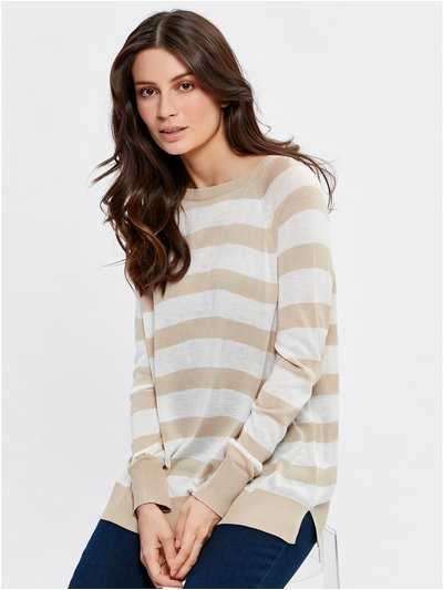 Lightweight stripe jumper
