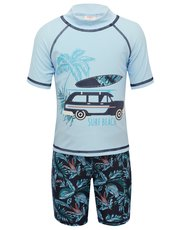 Surf beach rash guard swim set