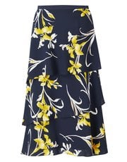 Jacques Vert printed layered skirt