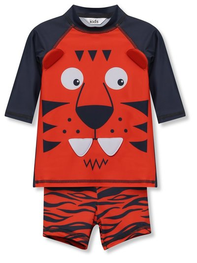 Tiger rash guard and short swim set (9mths-5yrs)