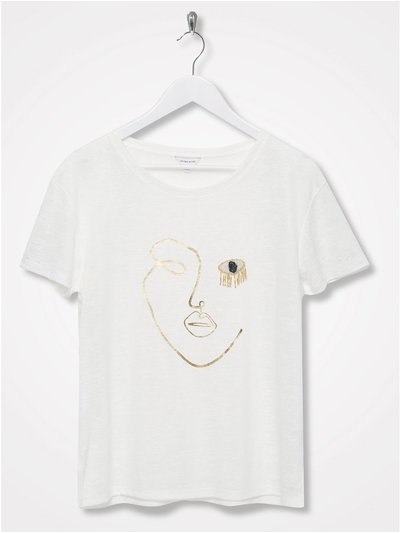 Sonder Studio embellished abstract face t-shirt