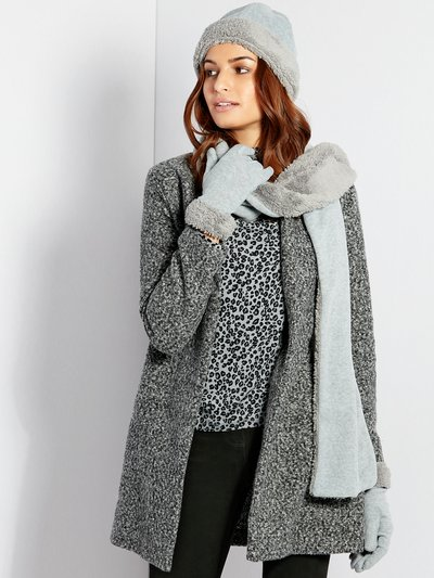 Faux fur fleece scarf