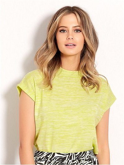Petite neon high neck top
