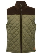 Quilted Cord Shoulder Body Warmer