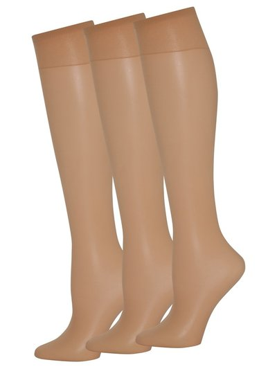 10 Denier knee highs three pack