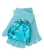 Two way sequin flip mittens
