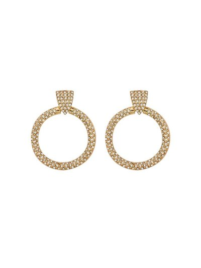 Drop hoop diamante earrings