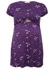 Maternity oriental clasp detail tunic