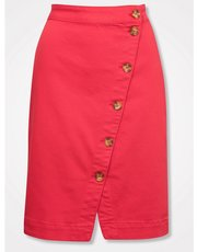 Khost Clothing button front skirt