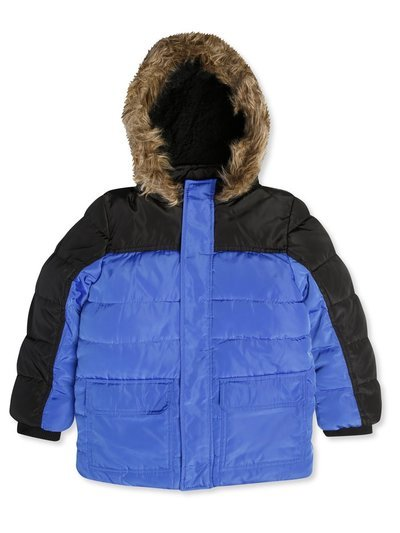 Fur trim padded coat (3-14yrs)