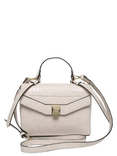 Croc embossed cross body bag