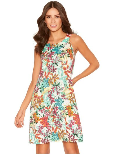Hawaiian floral beach dress