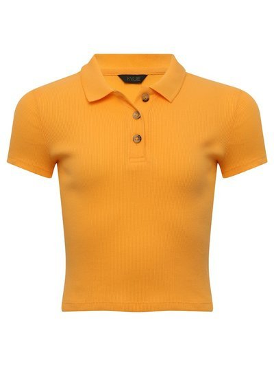 Teen cropped polo shirt